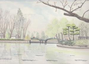 薬師池公園のタイコ橋